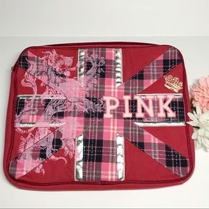 PINK Victoria's Secret Padded Tech Case Plaid Red